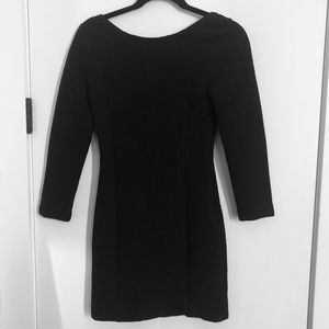H&M 3/4 Sleeve Black Dress With Criss Cross Back